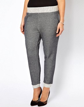 Image 4 ofASOS CURVE Basic Fleck Jogger