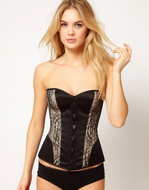 Image 1 of Playful Promises Temptation Lace And Vintage Stitch Corset