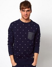 Jack &amp; Jones Sweatshirt With Boat Print