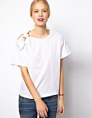 Mademoiselle Tara Jersey Tee with Bow Detail