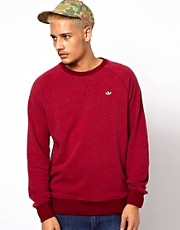 Adidas Originals Marl Sweatshirt with Trefoil Logo