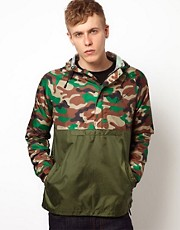 Huf Jacket Overhead Hooded Ripstop Camo