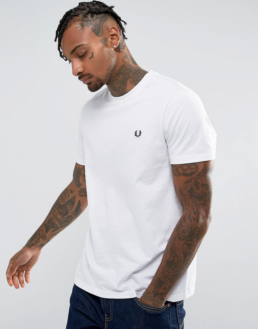 Fred Perry T-Shirt with Crew Neck - White