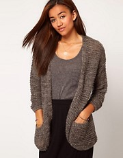 River Island Textured Knit Slouch Cardigan