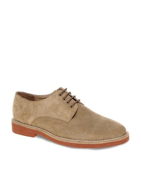 Image 1 ofASOS Suede Officer Shoes