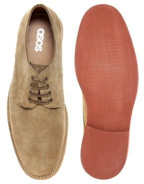Image 3 ofASOS Suede Officer Shoes