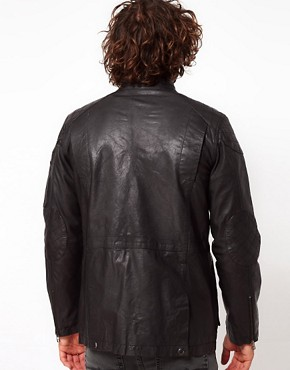 Image 2 ofASOS Leather Jacket With 4 Pocket Styling