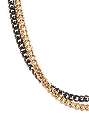 Image 4 ofASOS BLACK Mixed Chain
