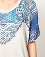 Image 3 ofWkShp Oversize T Shirt In Aztec Necklace Print