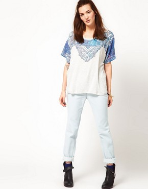 Image 4 ofWkShp Oversize T Shirt In Aztec Necklace Print