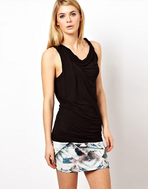 Image 1 ofFactory by Erik Hart Jersey Tank Top with Twisted Strap