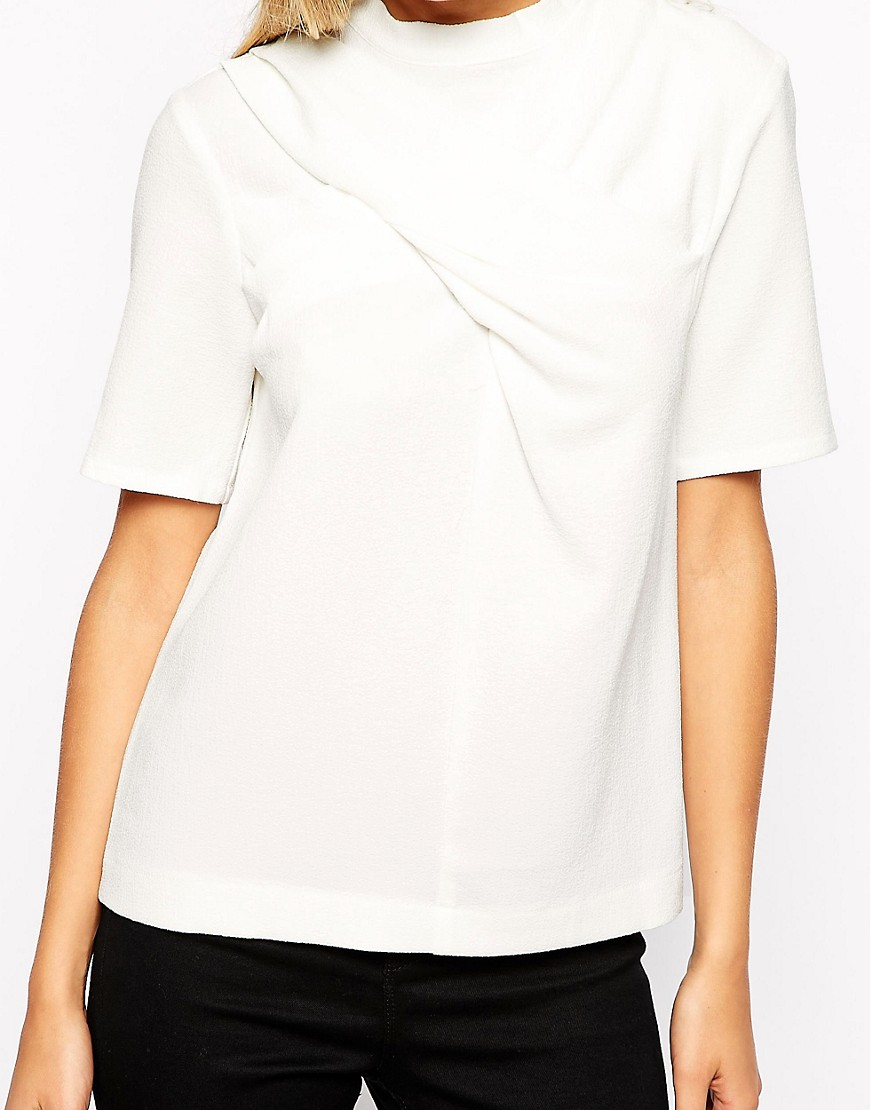 Image 3 of ASOS High Neck top with Twist Detail