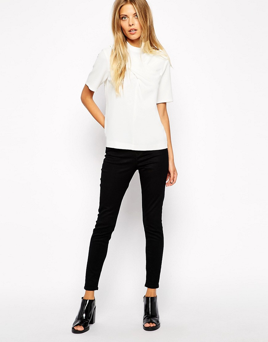 Image 4 of ASOS High Neck top with Twist Detail