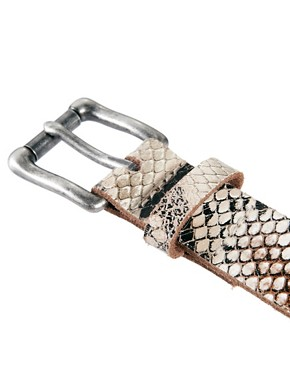Image 2 ofASOS Snake Print Leather Belt