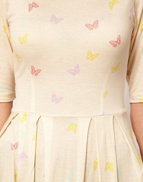 Image 3 ofVero Moda Peplum Top With Butterfly Print