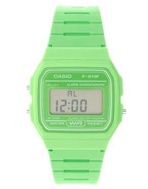 Image 1 ofCasio F-91WC-3AEF Digital Green Watch