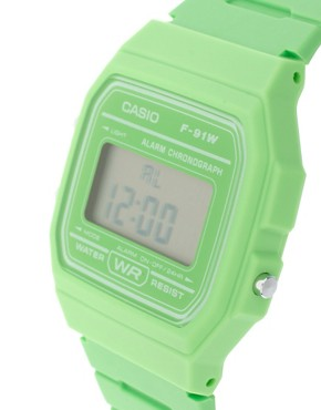 Image 3 ofCasio F-91WC-3AEF Digital Green Watch