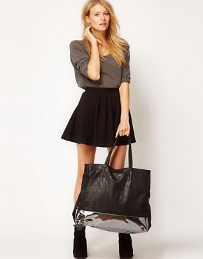 Image 3 ofASOS Colour Block Shopper Bag