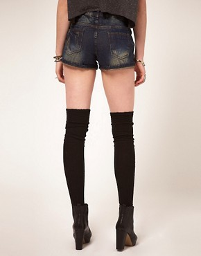 Image 2 ofASOS Vintage Indigo Denim Hotpants