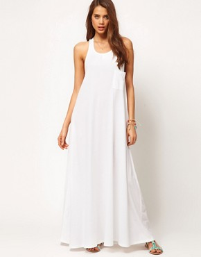 Image 2 ofASOS Maxi Dress With Triple Strap Back Detail