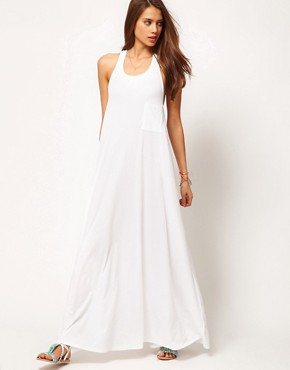 Image 4 ofASOS Maxi Dress With Triple Strap Back Detail