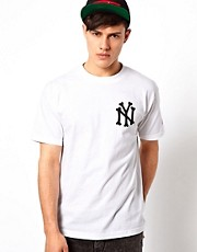SSUR T-Shirt With NY Bones Print
