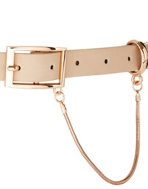 Image 2 ofASOS Plate Detail Skinny Waist Belt