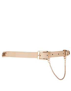 Image 1 ofASOS Plate Detail Skinny Waist Belt
