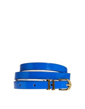 Image 1 of ASOS Metal Keeper Super Skinny Waist Belt