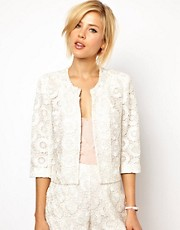 ASOS - Blazer in pizzo all&#39;uncinetto