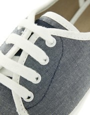 Fred Perry Bell Denim Chambray Sneakers