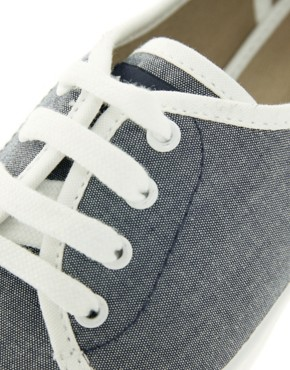 Image 1 ofFred Perry Bell Denim Chambray Trainers