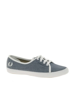 Image 2 ofFred Perry Bell Denim Chambray Trainers