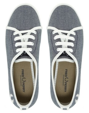 Image 3 ofFred Perry Bell Denim Chambray Trainers