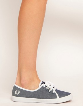 Image 4 ofFred Perry Bell Denim Chambray Trainers