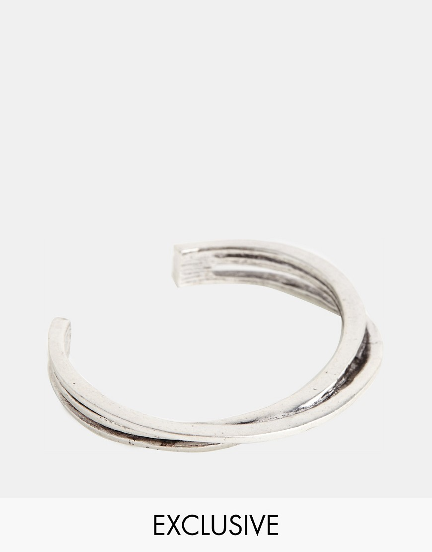 Designsix Bangle Bracelet Exclusive To ASOS - Silver
