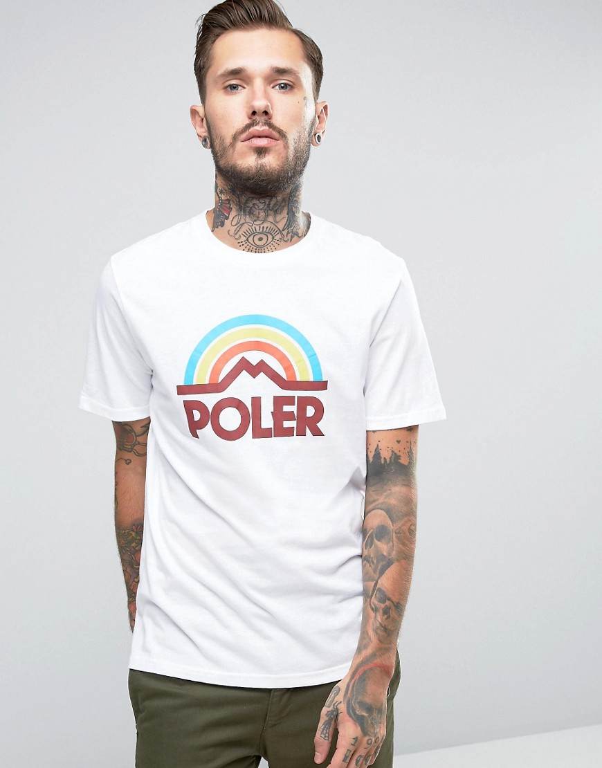 poler-t-shirt-with-large-rainbow-logo-white