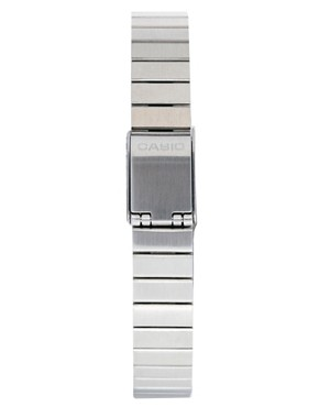 Image 2 ofCasio Burgundy &amp; Silver Mini Digital Watch