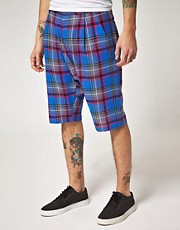 Unconditional Checked Drop Crotch Shorts