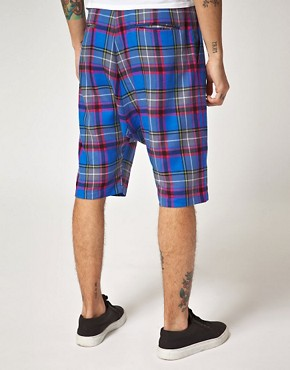 Image 2 ofUnconditional Checked Drop Crotch Shorts