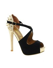 New Look EC Ruthless Stud Back Platform Shoes