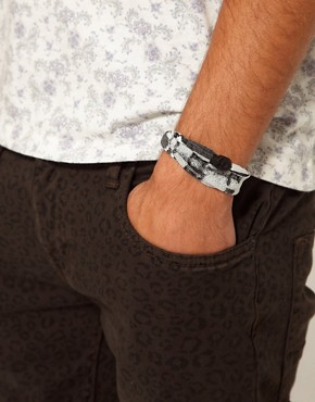 Image 3 ofIcon Brand Skull Bracelet Exclusive to ASOS