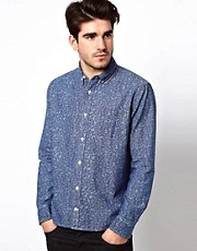 Lee 101 Shirt Everyman Print Chambray