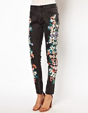 Insight Flower Print Skinny Jeans