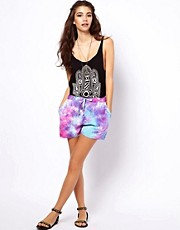 ASOS  Weiche Shorts mit Batikmuster