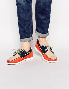 Timberland Timberland Heritage Boat Shoes (Orange)