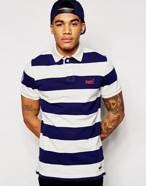 Superdry All Over Stripe Polo Shirt