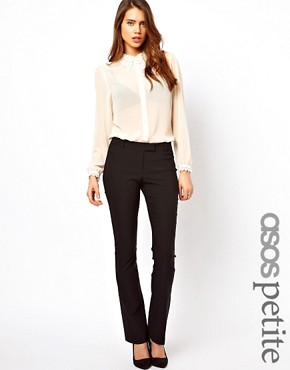 Image 1 ofASOS PETITE Trousers With Kick Flare