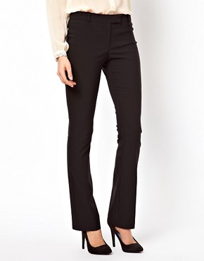 Image 4 ofASOS PETITE Trousers With Kick Flare