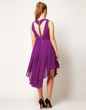 Image 2 ofASOS CURVE Chiffon Dress With Gathered Skirt